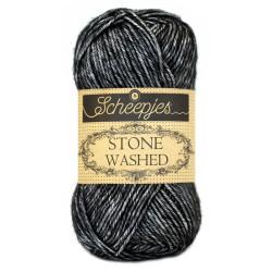 Scheepjes Stone washed 50g, farve 803 Black Onyx