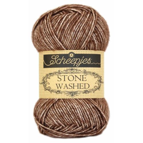 Scheepjes Stone washed 50g, farve 822 Brown Agate