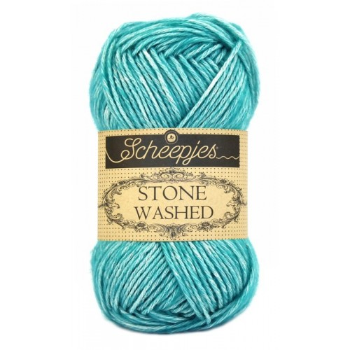 Scheepjes Stone washed 50g, farve 815 Green Agate