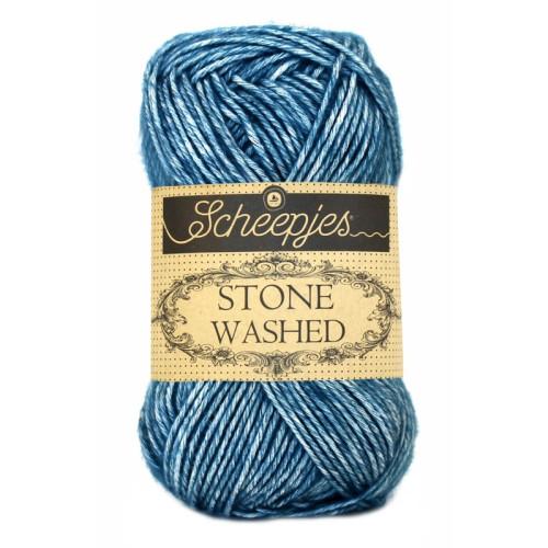 Scheepjes Stone washed 50g, farve 805 Blue Apatite