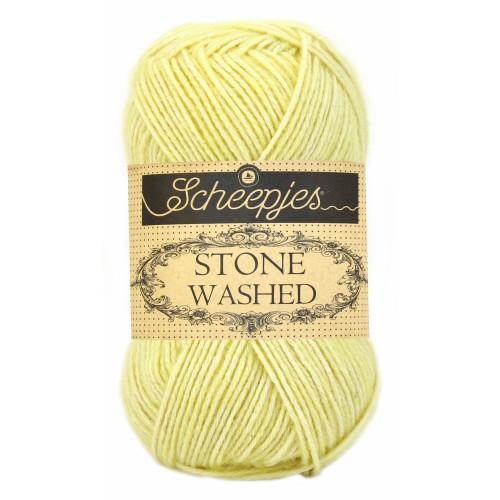 Scheepjes Stone washed 50g, farve 817 Citrine