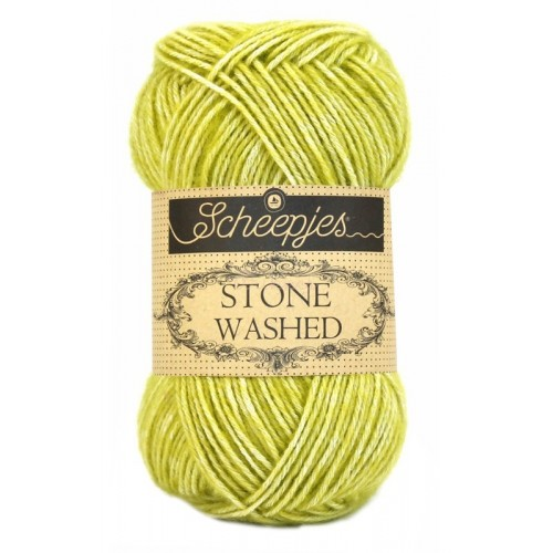 Scheepjes Stone washed 50g, farve 812 Lemon Quartz