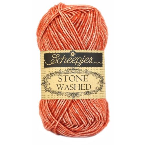 Scheepjes Stone washed 50g, farve 816 Coral