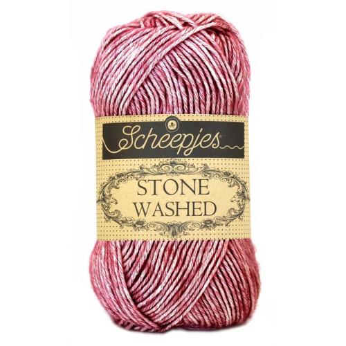 Scheepjes Stone washed 50g, farve 808 Corundum Ruby
