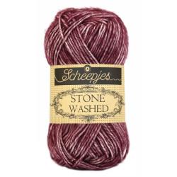 Scheepjes Stone washed 50g, farve 810 Garnet