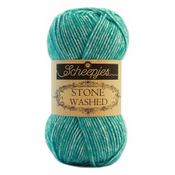 Scheepjes Stone washed 50g, farve 824 Turquoise