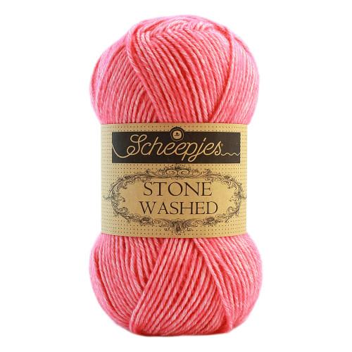Scheepjes Stone washed 50g, farve 835 Rhodochrosite