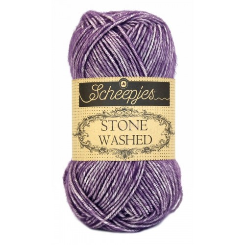 Scheepjes Stone washed 50g, farve 811 Deep Amestyst