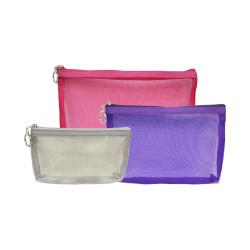 "Knitpro Vibrance, 3 størrelser ""net"" taske med lynlås"