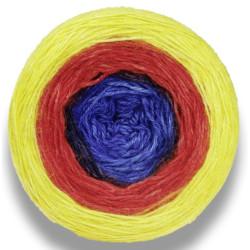 Lang Yarns Puno gul/rød/blå