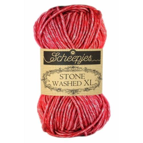 Scheepjes Stone Washed XL 50g, farve 847 Red Jasper