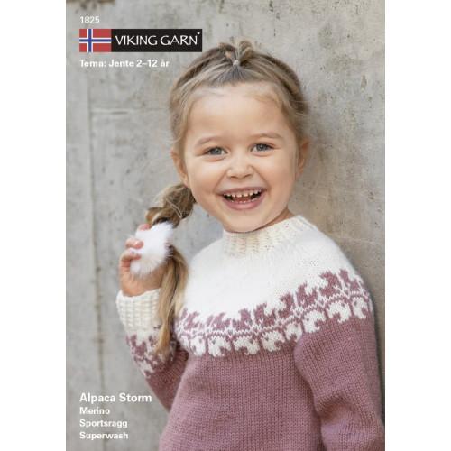Viking strikkeopskrifter katalog 1825, pige 2-12 år, Alpaca Storm, norsk