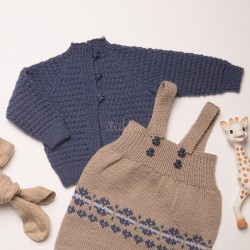 """Helle"" Kofte - Viking Design 1802-7 Kit - 1-24 mdr. - Viking Baby Ull"
