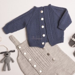 """Lasse"" Jakke - Viking Design 1802-8 Kit - 3-24 Mdr. - Viking Baby Ull"