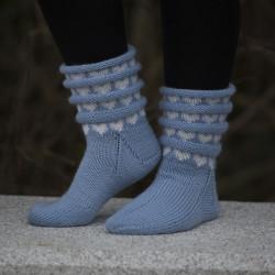 """Sokker """"Hjertebølge"""" - Viking Design 1805-2 Kit - Størrelse 28-42 - Viking Sportsragg"""