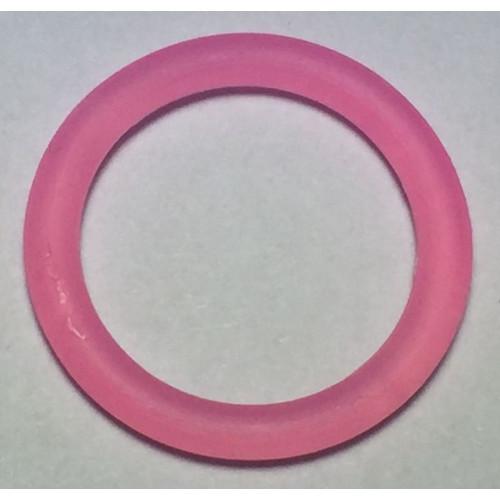 Suttekæde O-ring lyserød transparent. størrelse ca. 29mm