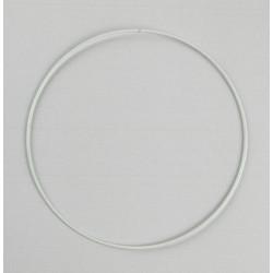 Hvid metalring rund ca. 20 cm x 3mm