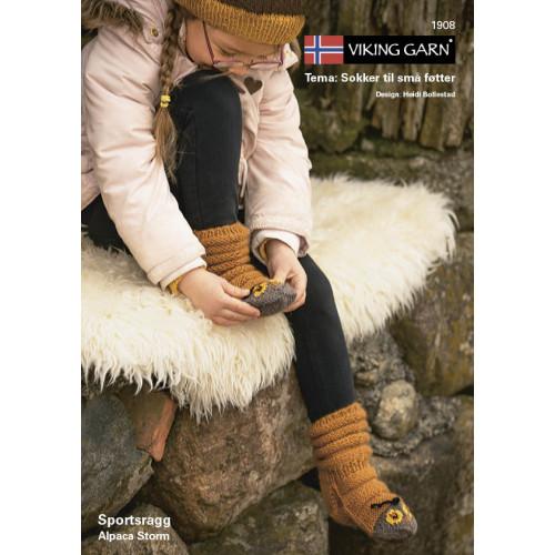 Viking strikkeopskrifter katalog 1908, børne sokker, sportsragg & Alpaca storm