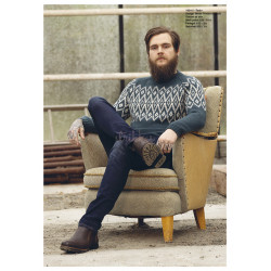 """Teak"" Genser - Viking Design 1824-5 Kit - XS-XXL - Viking Alpaca Storm"