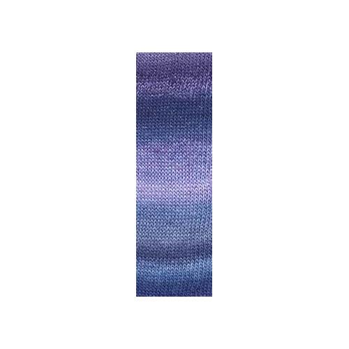 Lang Yarns Mille colori soks & lace luxe, farve 25 marine/lys blå/ lilla med sølv glimmer, 100g