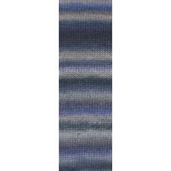 UDGÅET Lang Yarns Mille colori soks & lace luxe, farve 45 violet/beige/grå nuancer med sølv glimmer, 100g