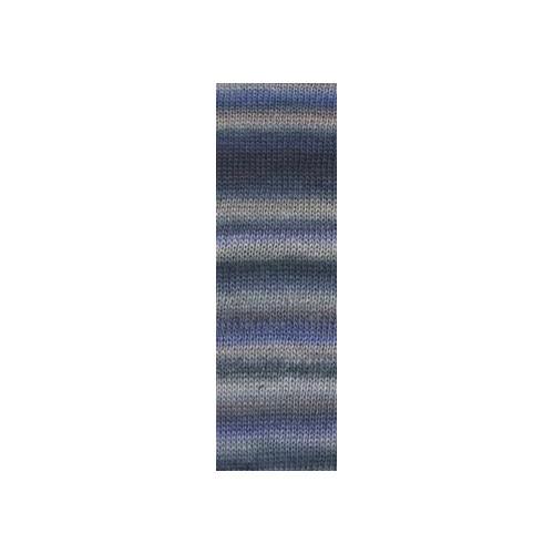 Lang Yarns Mille colori soks & lace luxe, farve 45 violet/beige/grå nuancer med sølv glimmer, 100g
