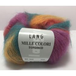 UDGÅET Lang Yarns Mille Colori Superkid. Farve 49, gyldengul/rød/lilla/blå