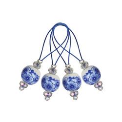 Maskemarkør, knitpro Zooni blooming blue i pung, 12 stk