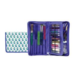 Knitpro Glory, stof pung til pinde og kabler ca. 35cm x 29cm (uden indhold)