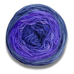 Lang Yarns Bloom farve 10, blå/lilla