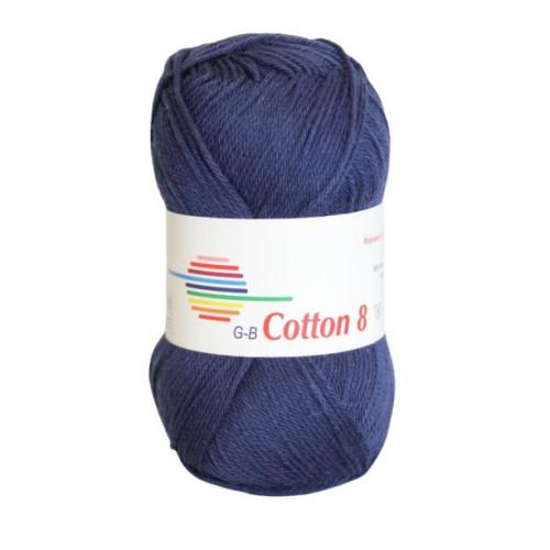 Cotton 8. Farve 1020, marineblå