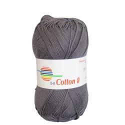 Cotton 8. Farve 1003, antracit
