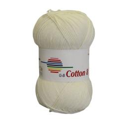 Cotton 8. Farve 1440, råhvid