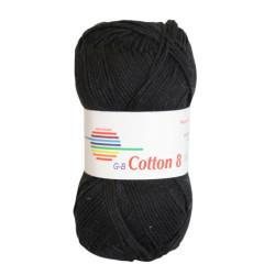 Cotton 8. Farve 1050, sort