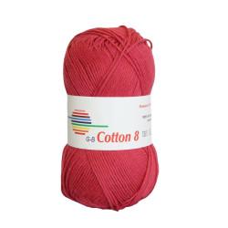 Cotton 8. Farve 1091, hindbær