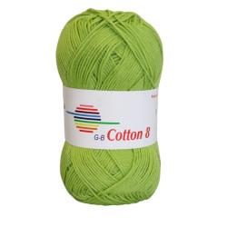 Cotton 8. Farve 1423, lys grøn