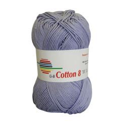 Cotton 8. Farve 1435, lys lavendel