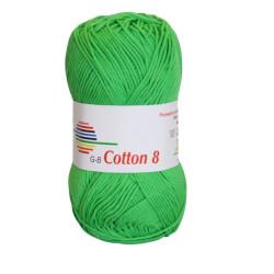 Cotton 8. Farve 1449, klar grøn