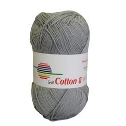 Cotton 8. Farve 1450, lys grå