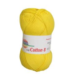 Cotton 8. Farve 1470, gul