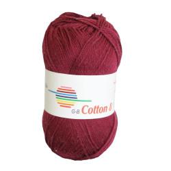 Cotton 8. Farve 1860, bordeaux
