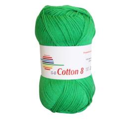 Cotton 8. Farve 1451, grøn
