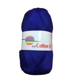 Cotton 8. Farve 1220, kongeblå
