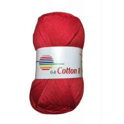 Cotton 8. Farve 1030, rød