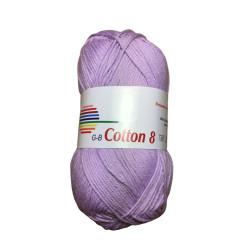 Cotton 8. Farve 1480, lys syren