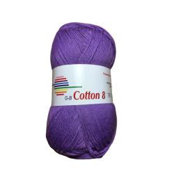 Cotton 8. Farve 1510, lilla