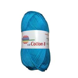 Cotton 8. Farve 1520, turkis