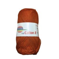 Cotton 8. Farve 1540, rust