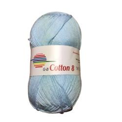 Cotton 8. Farve 1541, lyseblå
