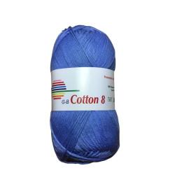 Cotton 8. Farve 1650, jeansblå
